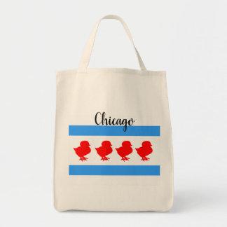 "Bolso De Tela ""Tote del polluelo de Chicago"""
