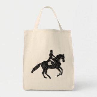 Bolso De Tela Tote del ultramarinos del Dressage - caballo y