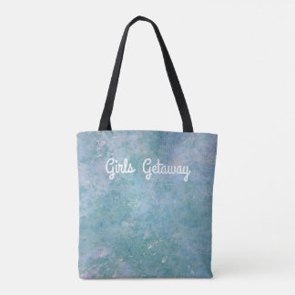 Bolso De Tela Tote en colores pastel azul suave adaptable del