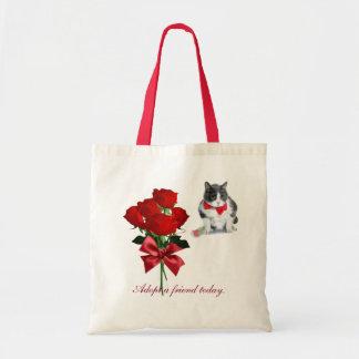 Bolso De Tela tote:  Felix, el gato, el el día de San Valentín