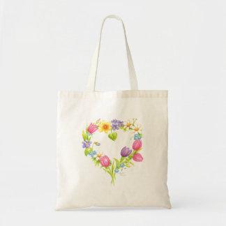 Bolso De Tela Tote floral de la acuarela