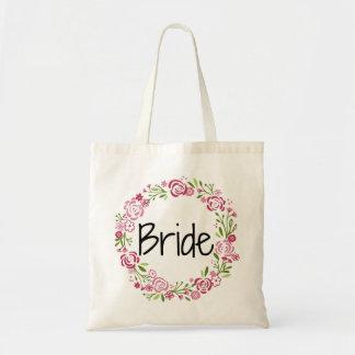 Bolso De Tela Tote floral de la novia hermosa