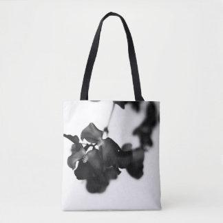 Bolso De Tela Tote floral monocromático