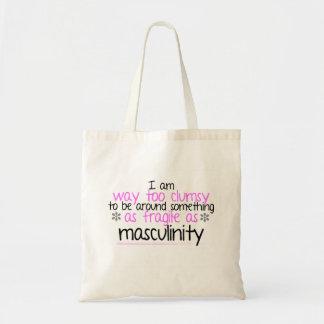 Bolso De Tela Tote frágil de la masculinidad