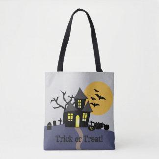 Bolso De Tela Tote frecuentado de Halloween