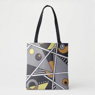Bolso De Tela Tote geométrico fabuloso de la forma en colores