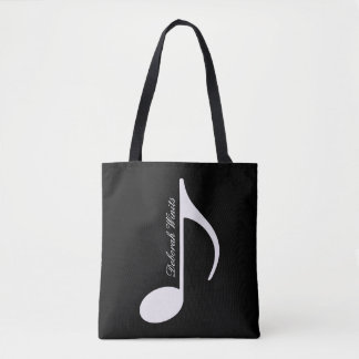 Bolso De Tela tote gráfico personalizado de la nota musical con