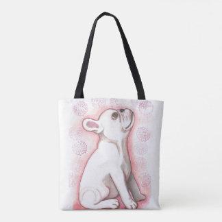 Bolso De Tela Tote lindo rosado bonito del dogo francés