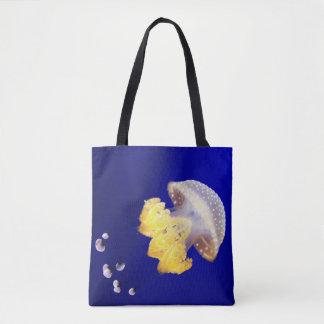 Bolso De Tela Tote manchado australiano de las medusas