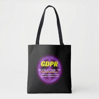 Bolso De Tela Tote negro básico de Paxspiration GDPR