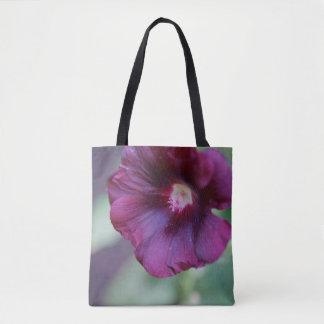 Bolso De Tela Tote púrpura de la flor