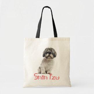 Bolso De Tela Tote reutilizable del amor del perro de perrito de