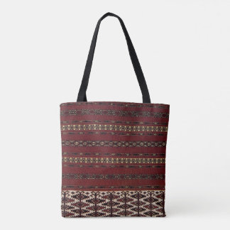 Bolso De Tela Tote turcomano del modelo de la alfombra