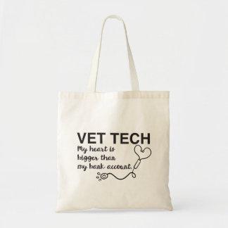 Bolso De Tela Tote veterinario del técnico