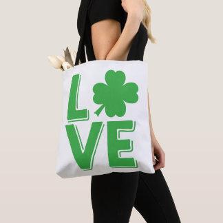 Bolso De Tela Trébol irlandés del día de St Patrick del amor
