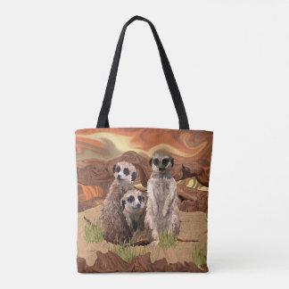 Bolso De Tela Tres Meerly Meerkats
