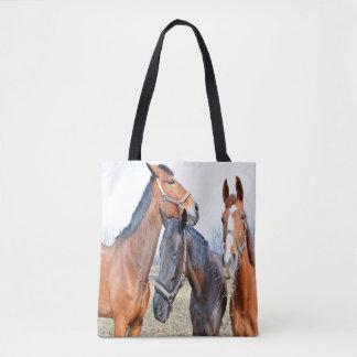 Bolso De Tela Trío de caballos