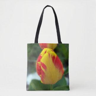 Bolso De Tela tulipanes rojos amarillos
