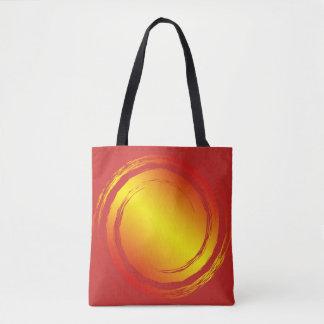 Bolso De Tela Ultramarinos ardiente amarillo-naranja y rojo de