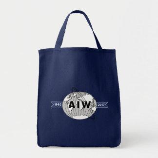 Bolso De Tela Ultramarinos del logotipo del aniversario de AIW
