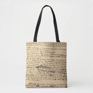 Bolso De Tela Un manuscrito de la original del villancico del