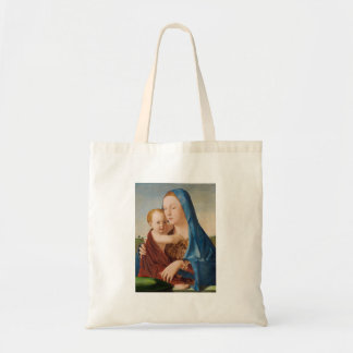 Bolso De Tela Un retrato de Maria y del bebé Jesús