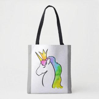 Bolso De Tela Unicornio mágico de la acuarela