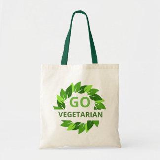 Bolso De Tela Va el vegetariano, vegano, hojas Peta del verde