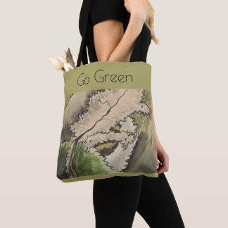 Bolso De Tela va el verde, ambiente, escena del arbolado