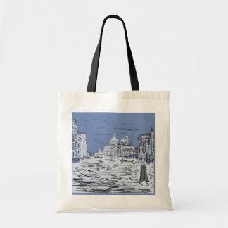 Bolso De Tela Venecia. Ciudad en el agua