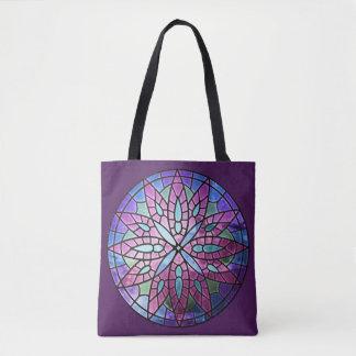 Bolso De Tela Ventana color de rosa - púrpura todo encima -