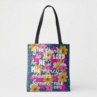 Bolso De Tela Verso floral colorido lindo de la biblia de la