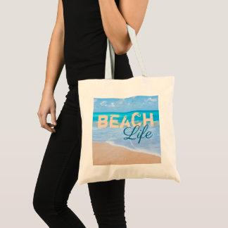Bolso De Tela Vida de la playa. Océano tropical de la aguamarina