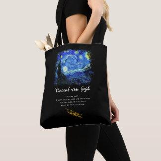 Bolso De Tela Vincent van Gogh. Arte del poema de la pintura de