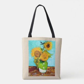 Bolso De Tela Vincent van Gogh - tote de los girasoles - ambos