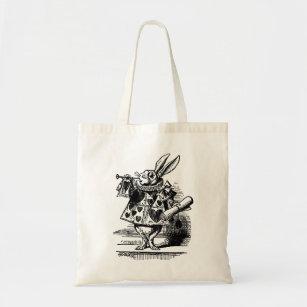 Bolso De Tela Vintage Alicia en el conejo blanco del país de las