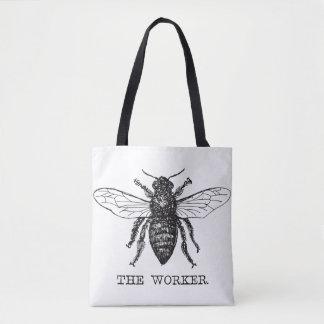 Bolso De Tela Vintage del abejorro de la abeja de trabajador de