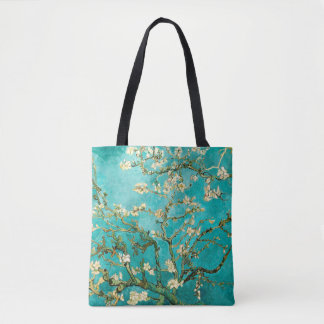 Bolso De Tela Vintage floreciente Van Gogh floral del árbol de