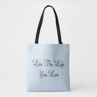 Bolso De Tela Vive la vida que usted ama