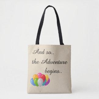 Bolso De Tela Y la aventura comienza tan el tote