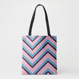 """Bolso De Tela """"Zigzag 3"""" diseño geométrico -"""