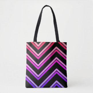 """Bolso De Tela """"Zigzag 4"""" diseño geométrico -"""