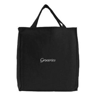 Bolso de ultramarinos bordado elegante reutilizabl bolsa bordada