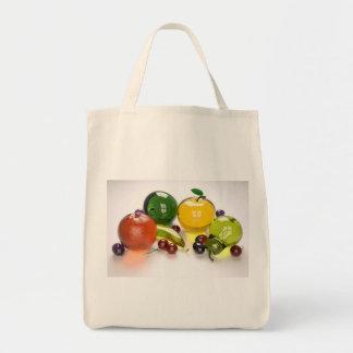 Bolso de ultramarinos de cristal de la fruta bolsas