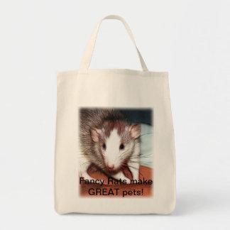 Bolso de ultramarinos de lujo de la rata bolsa tela para la compra