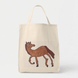 bolso de ultramarinos marrón del caballo bolsas