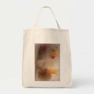 Bolso de ultramarinos reutilizable del polluelo de bolsa tela para la compra