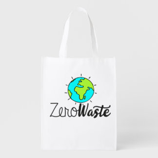 Bolso de ultramarinos reutilizable inútil cero