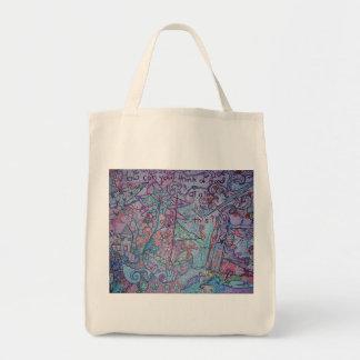 bolso de ultramarinos único bolsa tela para la compra