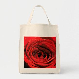 Bolso de ultramarinos y el rosa rojo bolsa tela para la compra